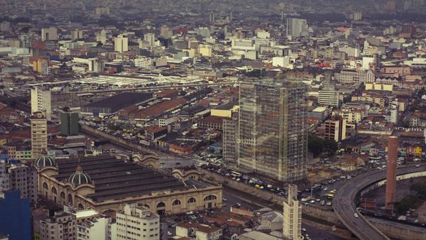 Edificio Mercurio e Sao Vito visto do Banespa. Arquivo Final. Morar 2011.